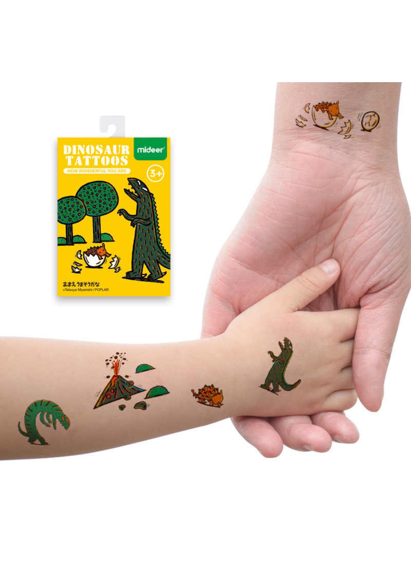 Mideer Mideer Dinosaur Tattoos