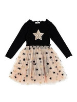 Petite Hailey Petite Hailey Star Gold Tutu Dress