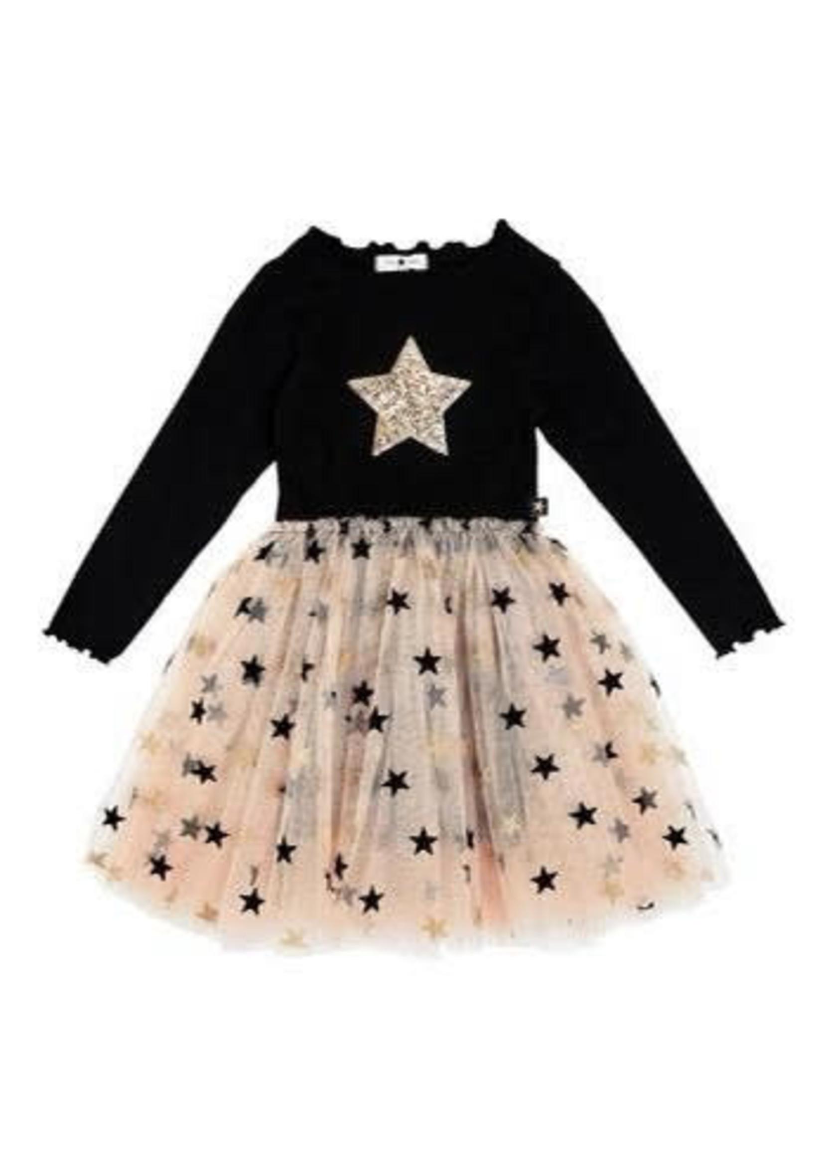 Petite Hailey PH Star Gold Tutu Dress