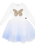 Petite Hailey Petite Hailey Butterfly Blue Tutu Dress