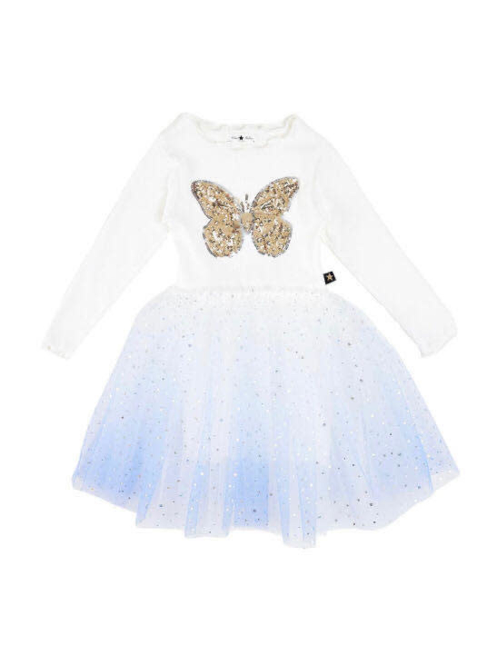 Petite Hailey PH Butterfly Blue Tutu Dress