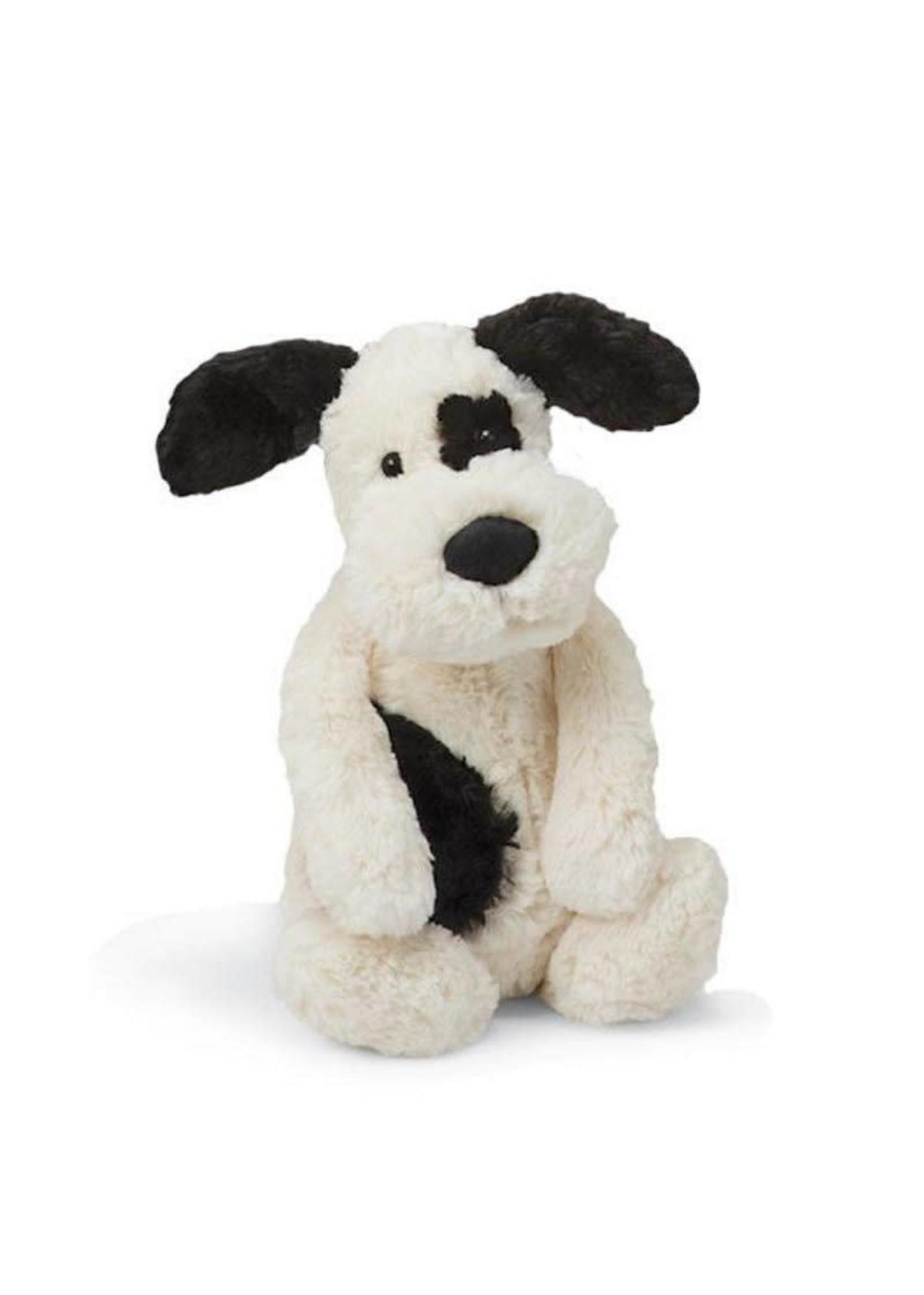Jellycat JC Medium Bashful Blk/Cream Puppy