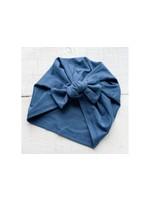 mini bretzel Mini Bretzel Premium Bow Turban (Dk Ocean)