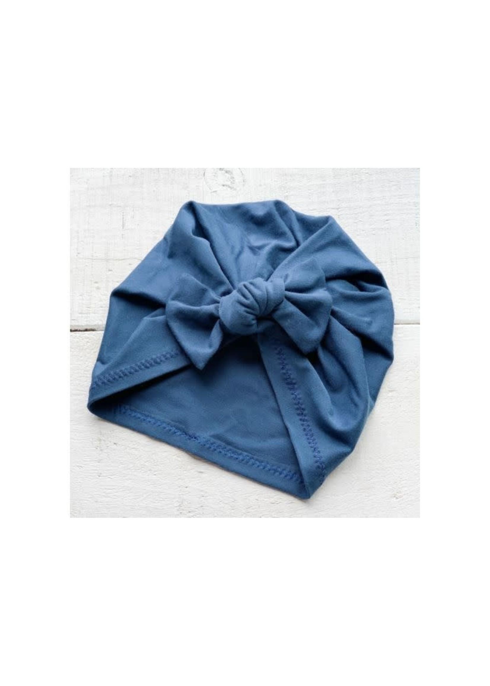 MB Premium Bow Turban (Dk Ocean)