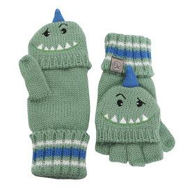 Flapjack Kids Knit Gloves (Dino)