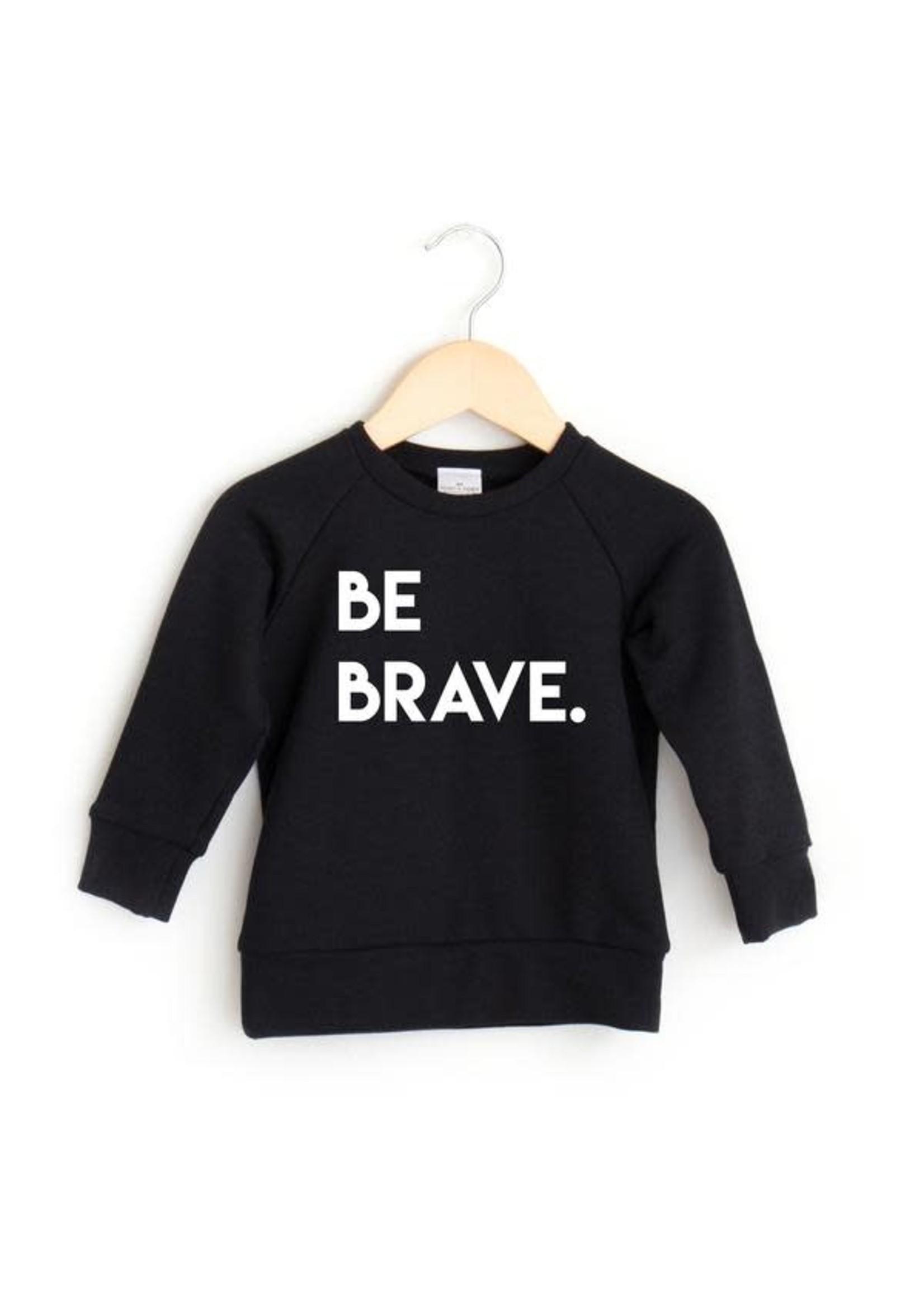 posh&cozy P&C Be Brave Crew (Black)