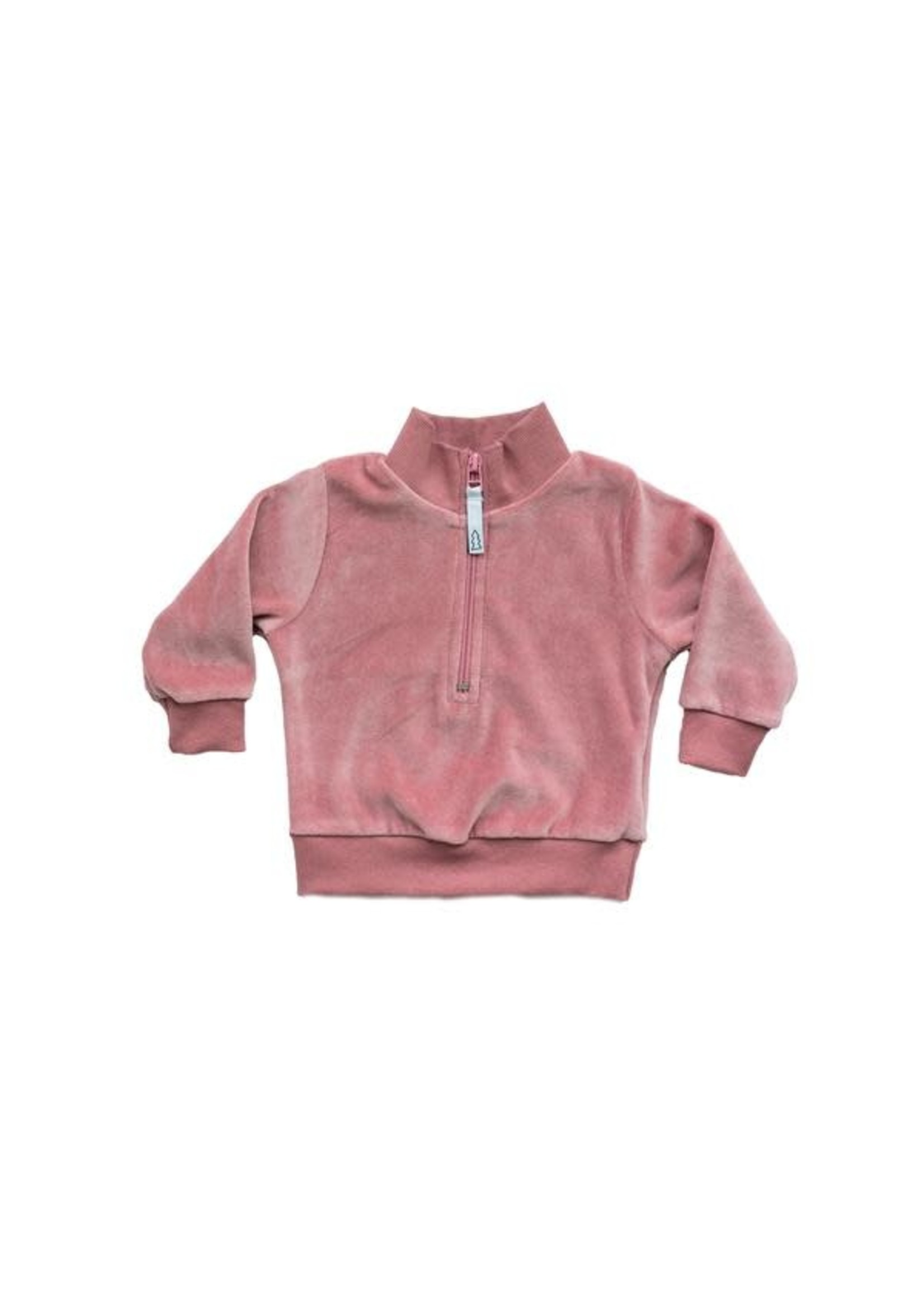 North Kinder NK Velour Zip Sweater (Cotton Candy)