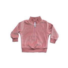 North Kinder Northkinder Velour Zip Sweater (Cotton Candy)