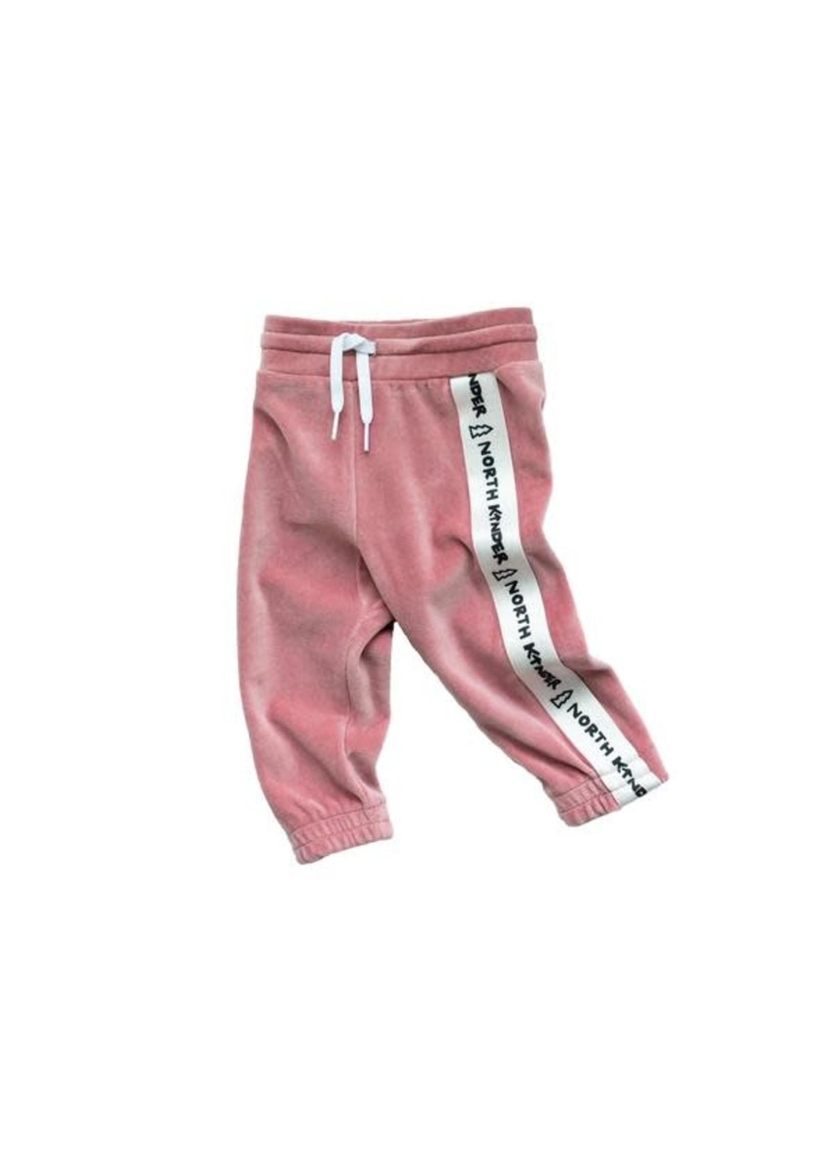North Kinder NK Velour Jogger (Cotton Candy)