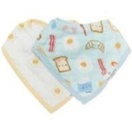 Loulou Lollipop Loulou Lollipop Bandana Bib (Breakfast Blue)