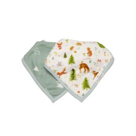 Loulou Lollipop Loulou Lollipop Bandana Bib (Forest Friends)