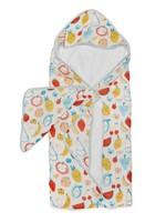 Loulou Lollipop Loulou Lollipop Hooded Towel Set (Cutie Fruits)