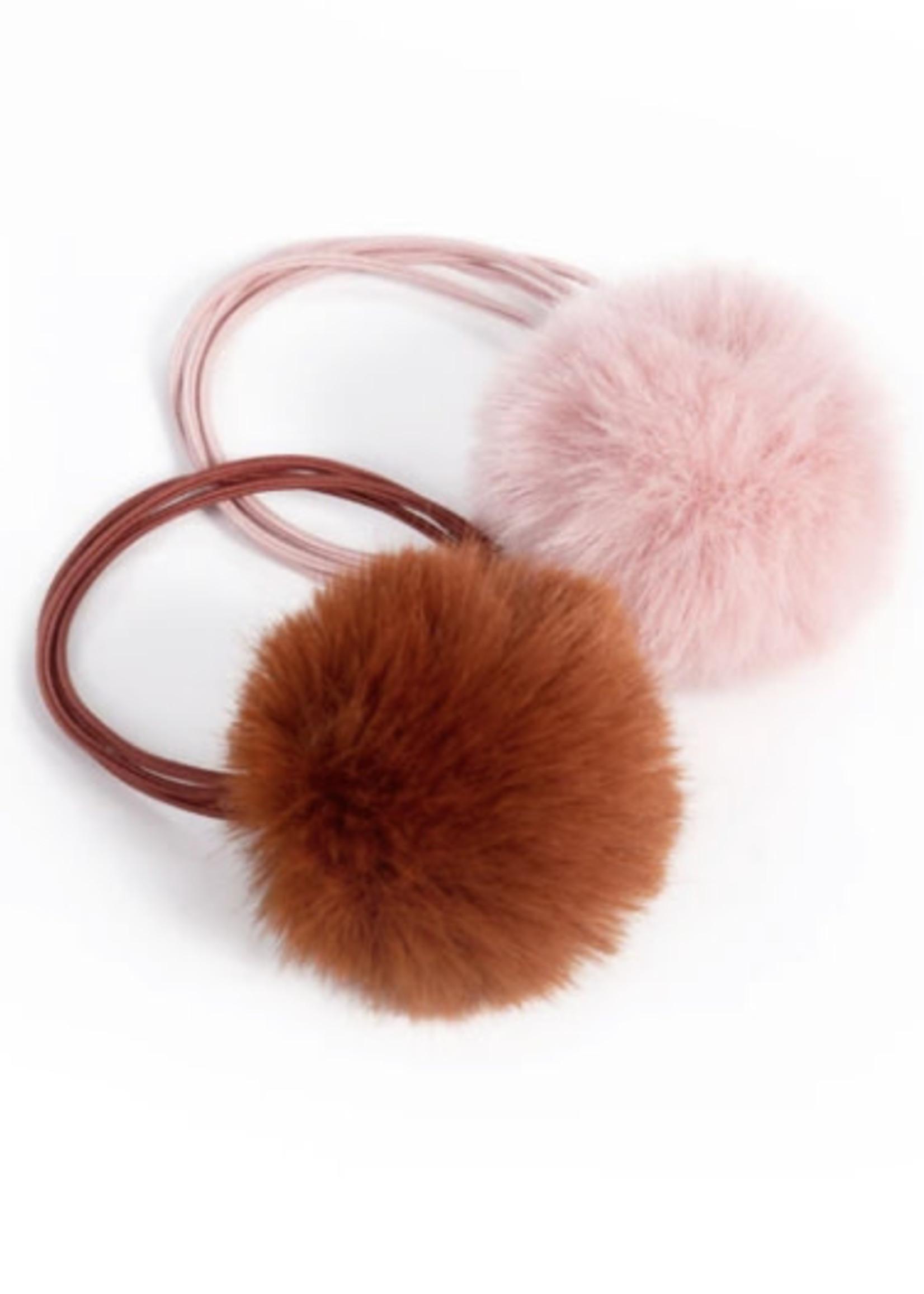 Lox Lion LL Pom Elastic (Brown/Blush Pink)