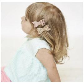 Lox Lion Lox Lion Bow Clip (Rose/Glitter Gold)