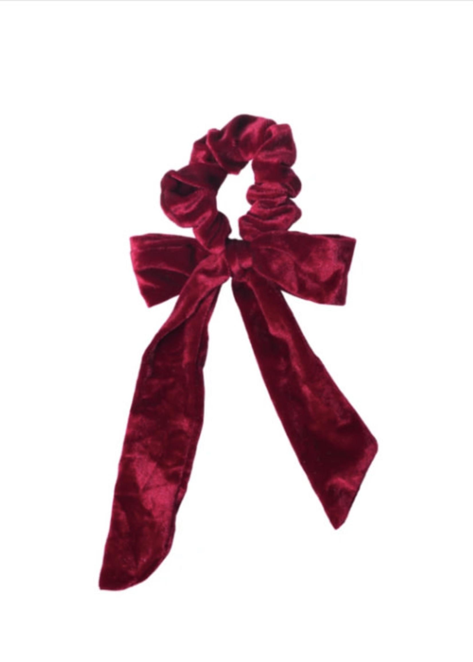Lox Lion LL Velour Scrunchie (Red)