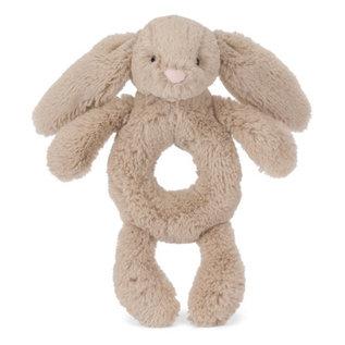 Jellycat JC Bashful Beige Bunny Rattle