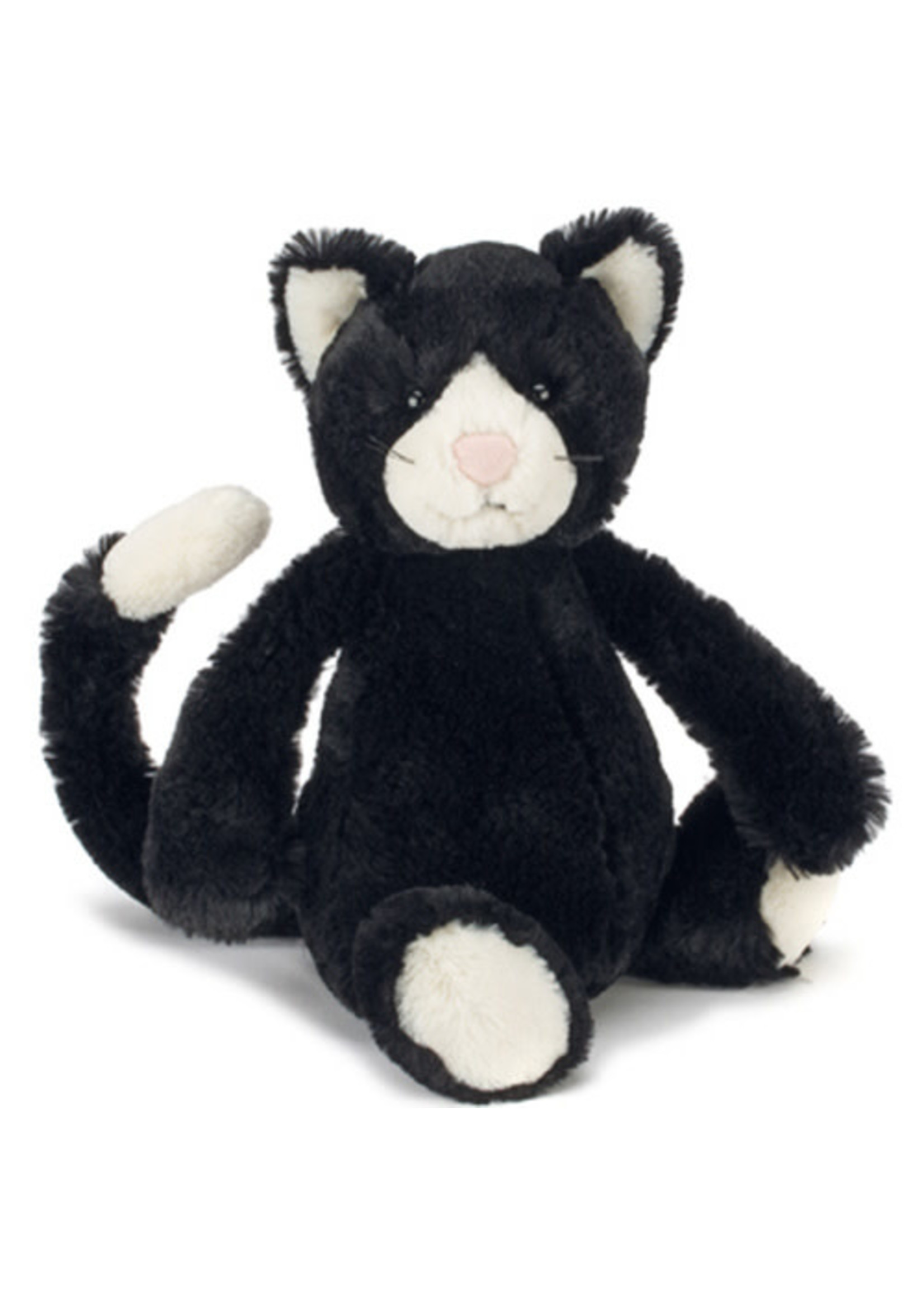 Jellycat JC Medium Bashful Black & White Cat