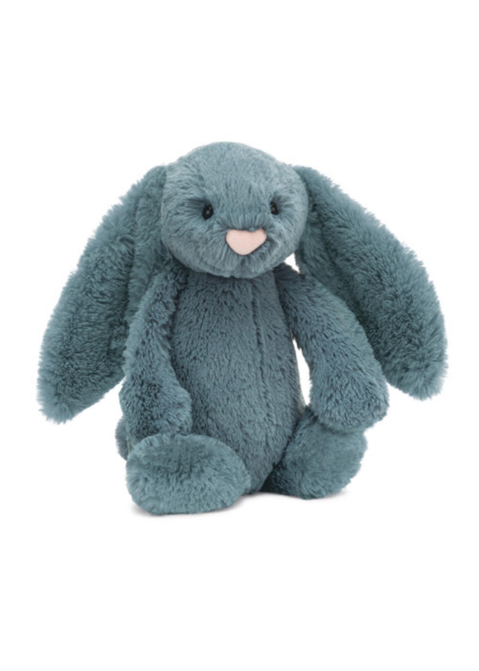 Jellycat JC Medium Bashful Dusky Blue Bunny
