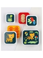 A Little Lovely Co. Little Lovely Lunch & Snack Box Set (Jungle Tiger)