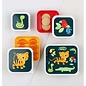 A Little Lovely Co. Little Lovely Lunch & Snack Box Set (Jungle Tiger)
