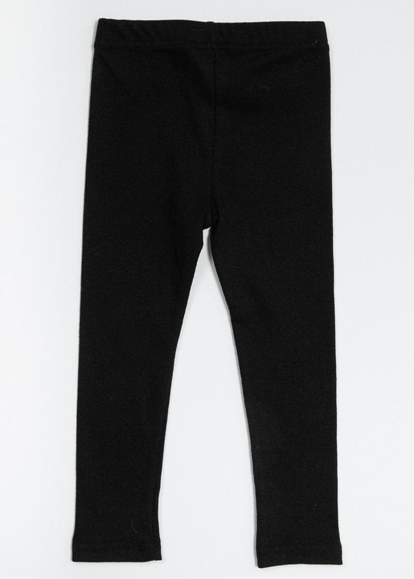 Petite Hailey PH Ribbed Leggings (Black)