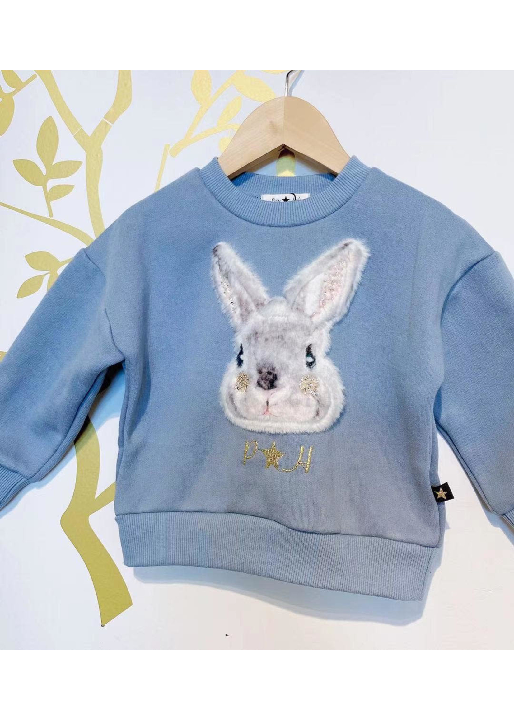 Petite Hailey PH Rabbit sweater (Blue)