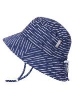jan & jul Jan & Jul Cotton Floppy Hat (Navy Waves)