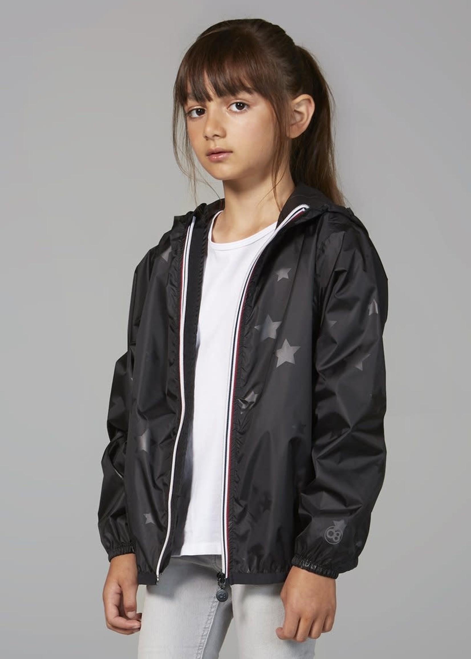 O8 O8 Kids  Zip  Jacket Black Gloss