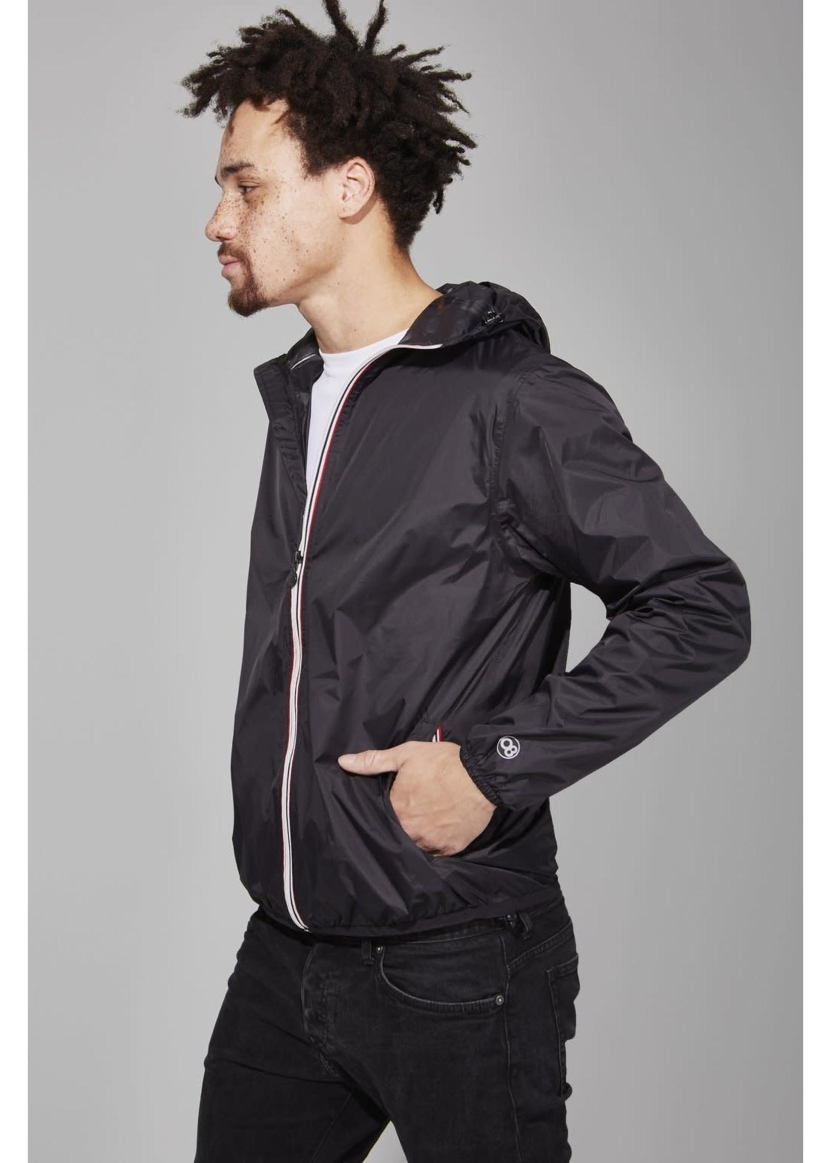 O8 O8 Men's Zip jacket Black