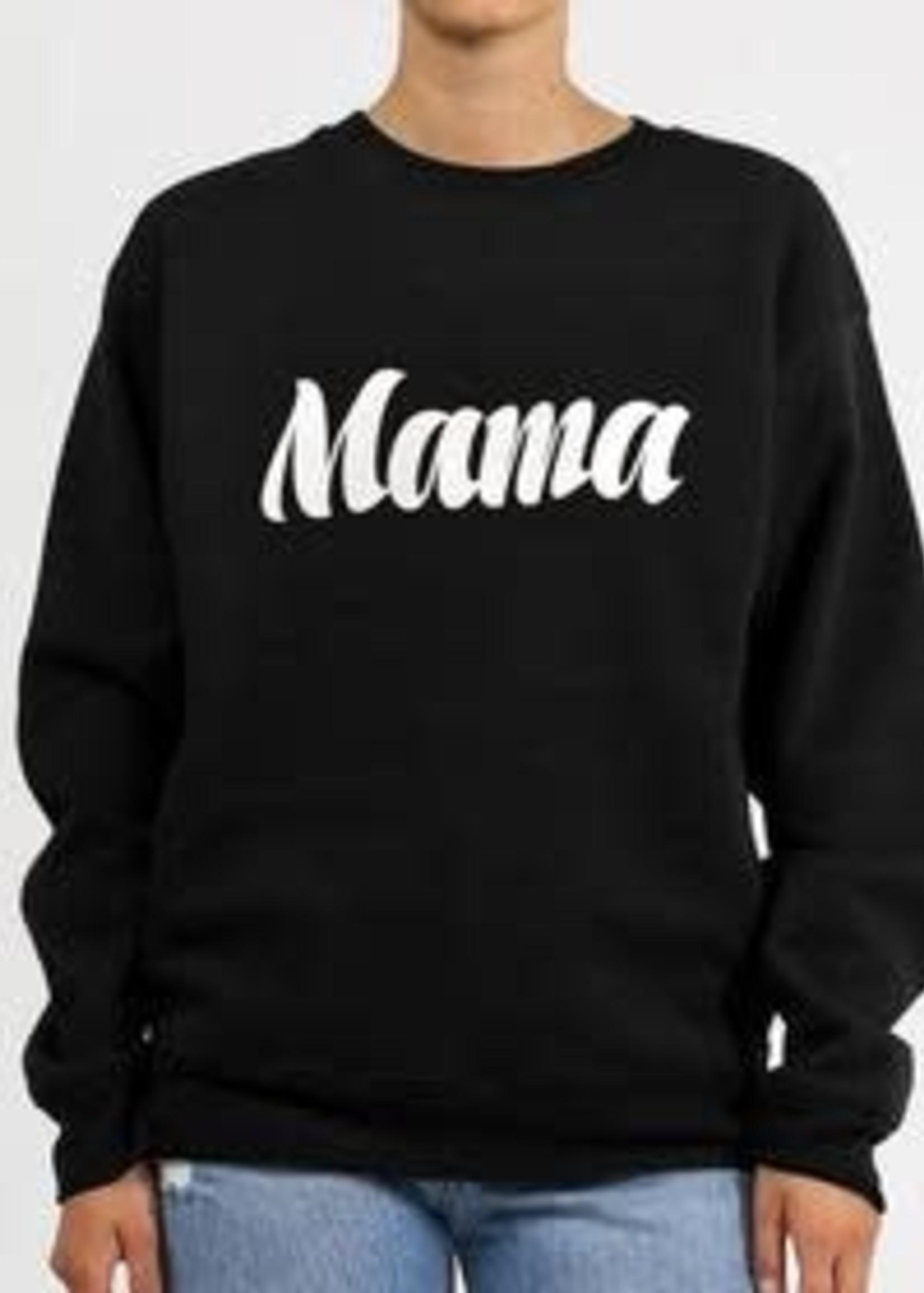 Brunette The Label BL Mama Crew (Cursive Black)