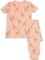 silkberry Silkberry 2pc Shortsleeve Pajama Set (Daisy Giraffe)