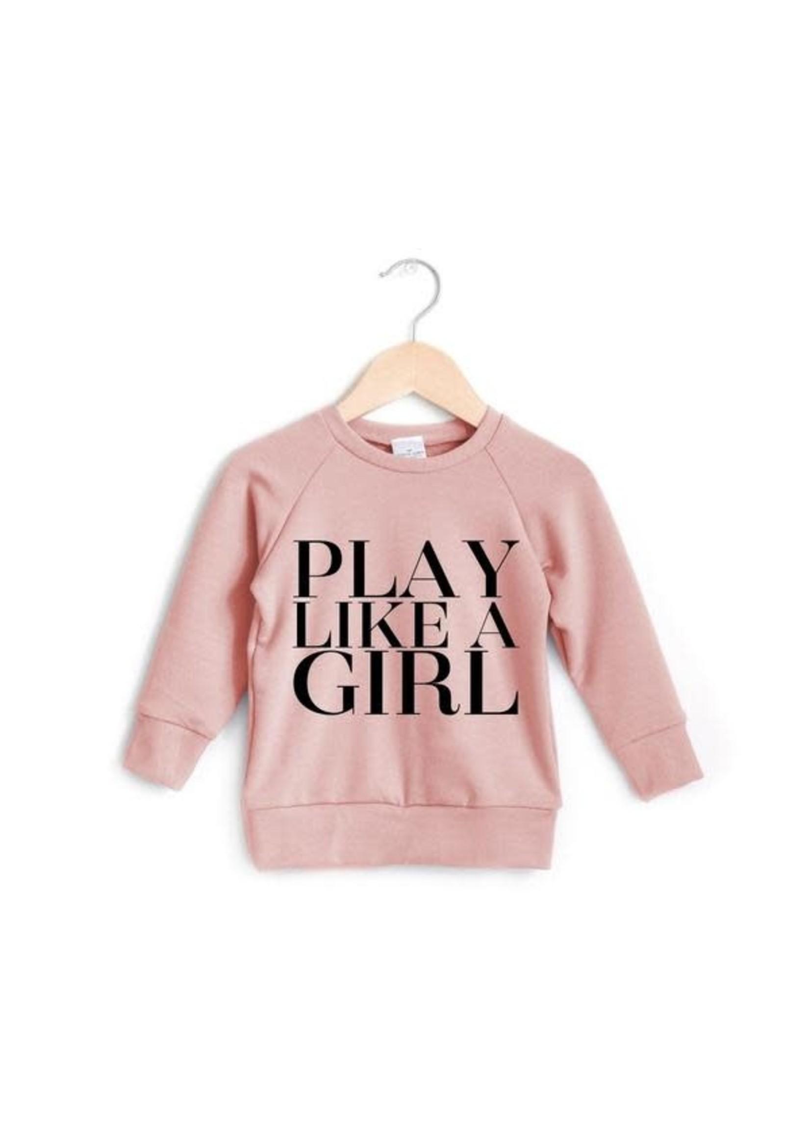 posh&cozy P&C Play Like A Girl Crewneck (Strawberry)