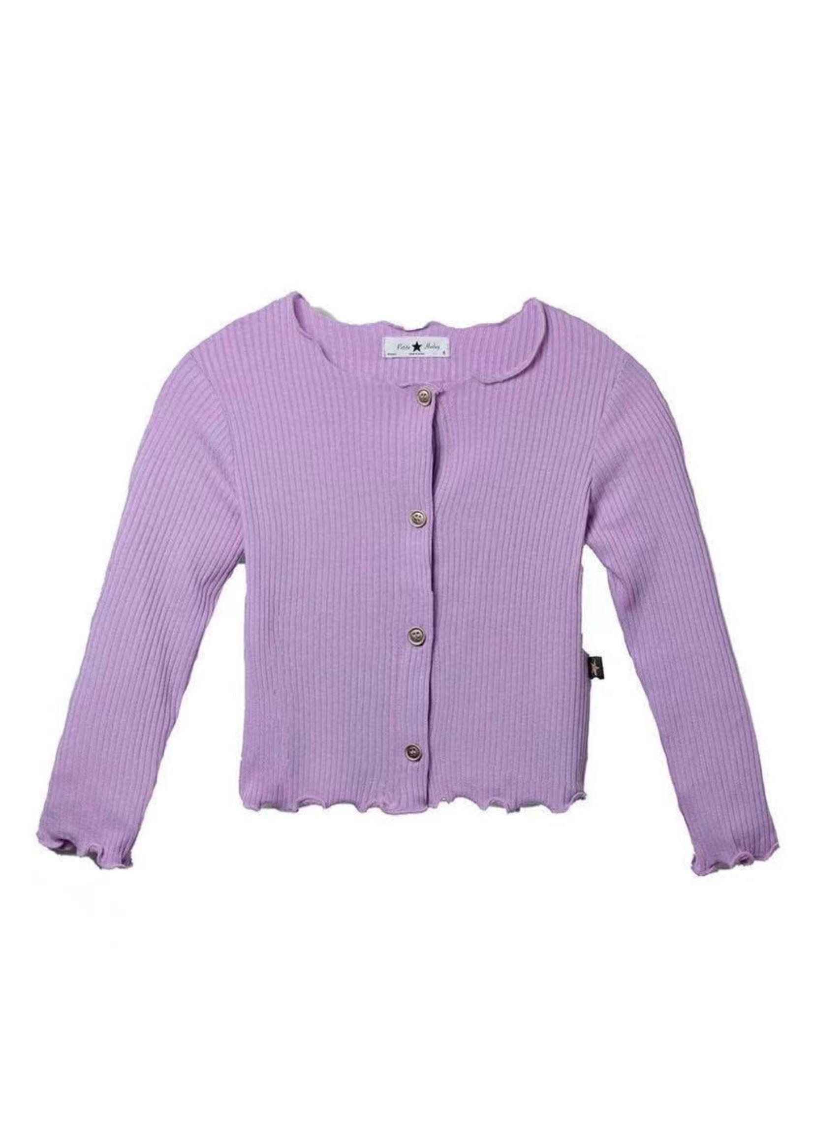 Petite Hailey PH AMI Cardigan (Purple)