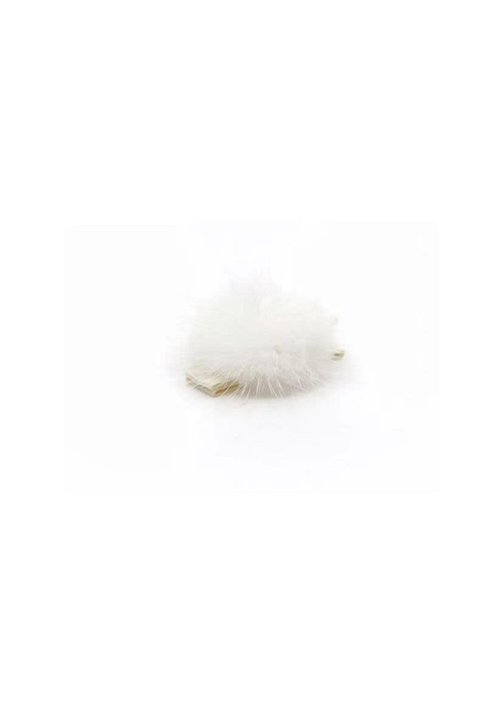Olilia Small Mink Puff Hair Clip - Ivory
