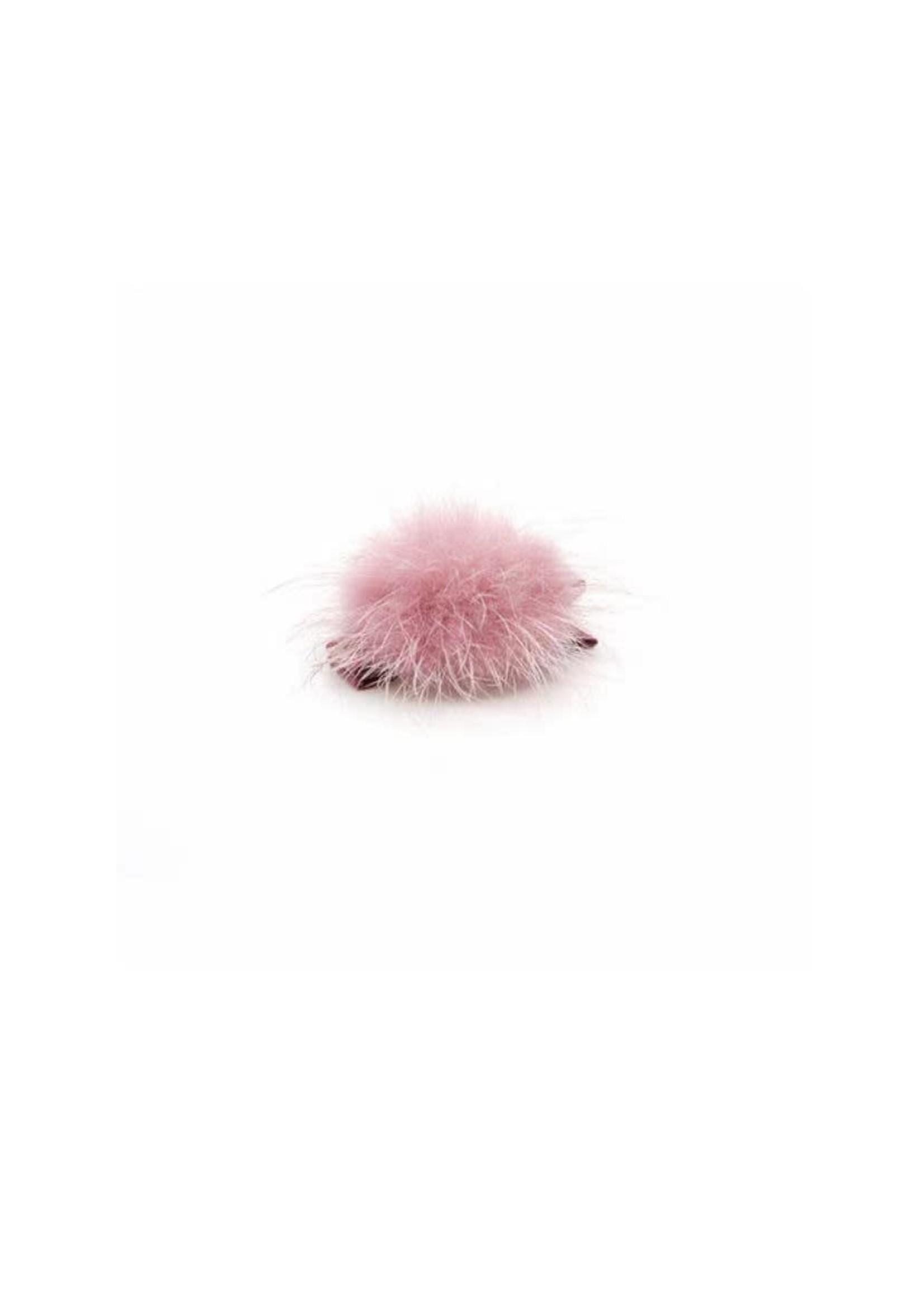 Olilia Small Mink Puff Hair Clip - Sweet Nectar