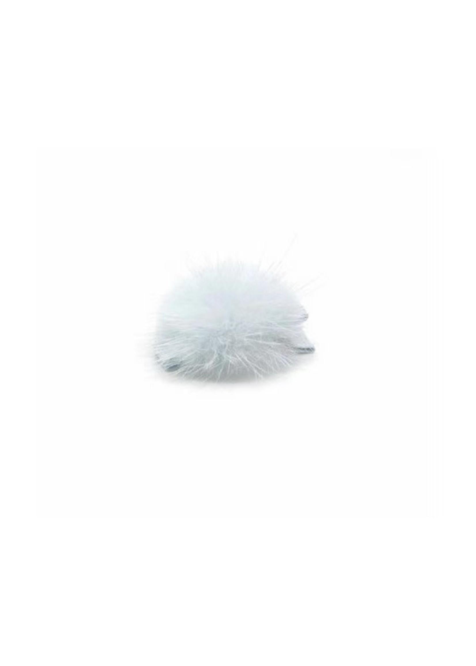 olilia Olilia Mink Puff Hair Clip - Blue Vapor