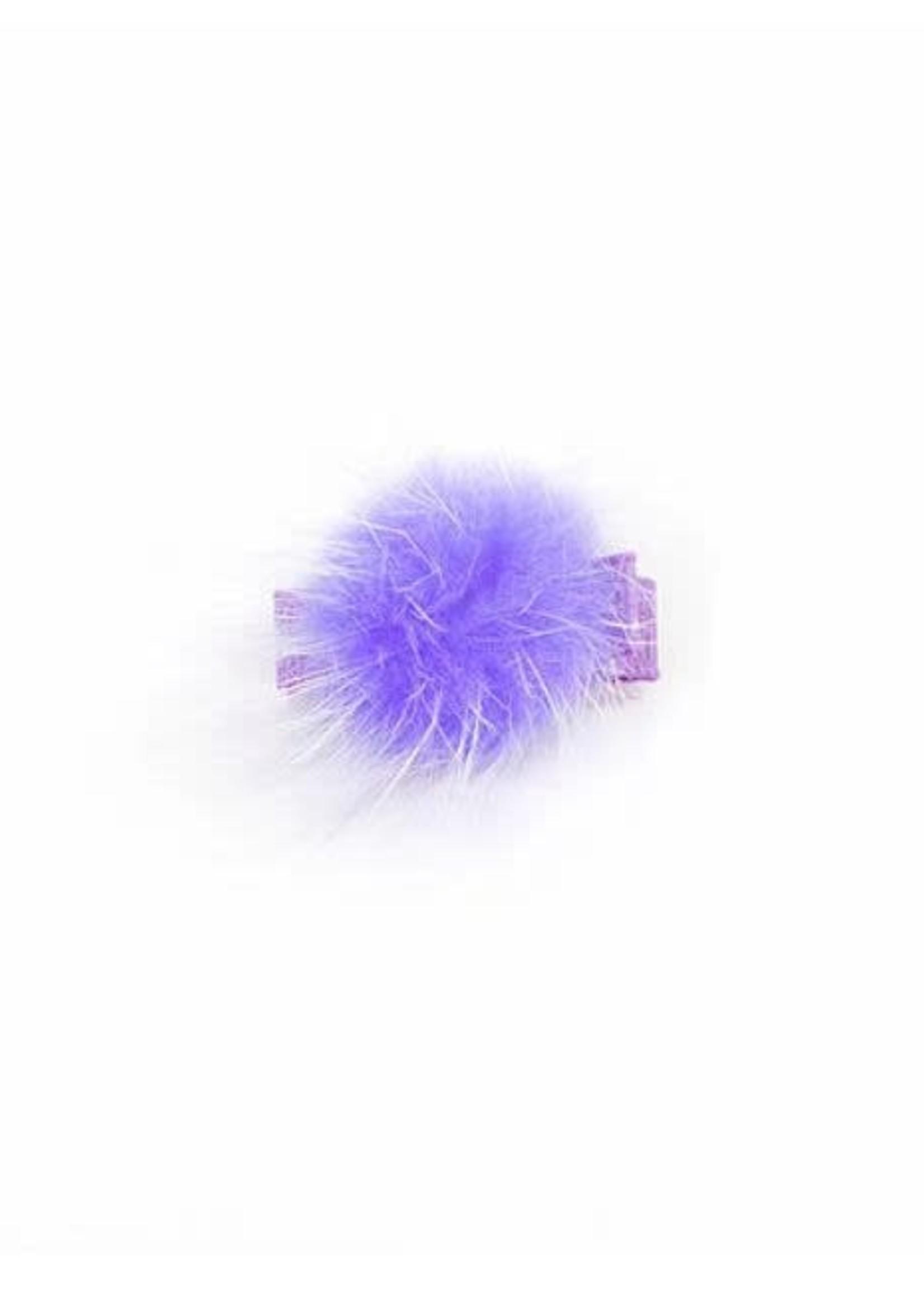 olilia Olilia Small Mink Puff Hair Clip - Purple