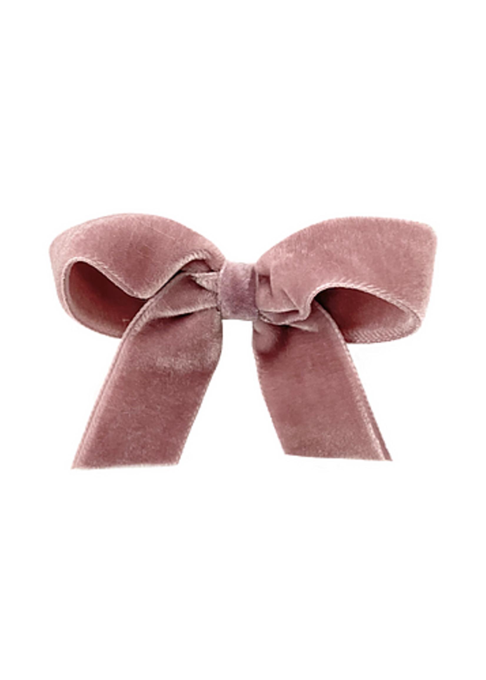 olilia Olilia Velvet Bow (Rosy Mauve)