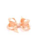 olilia Olilia Small Crystal Bow (Petal Peach)