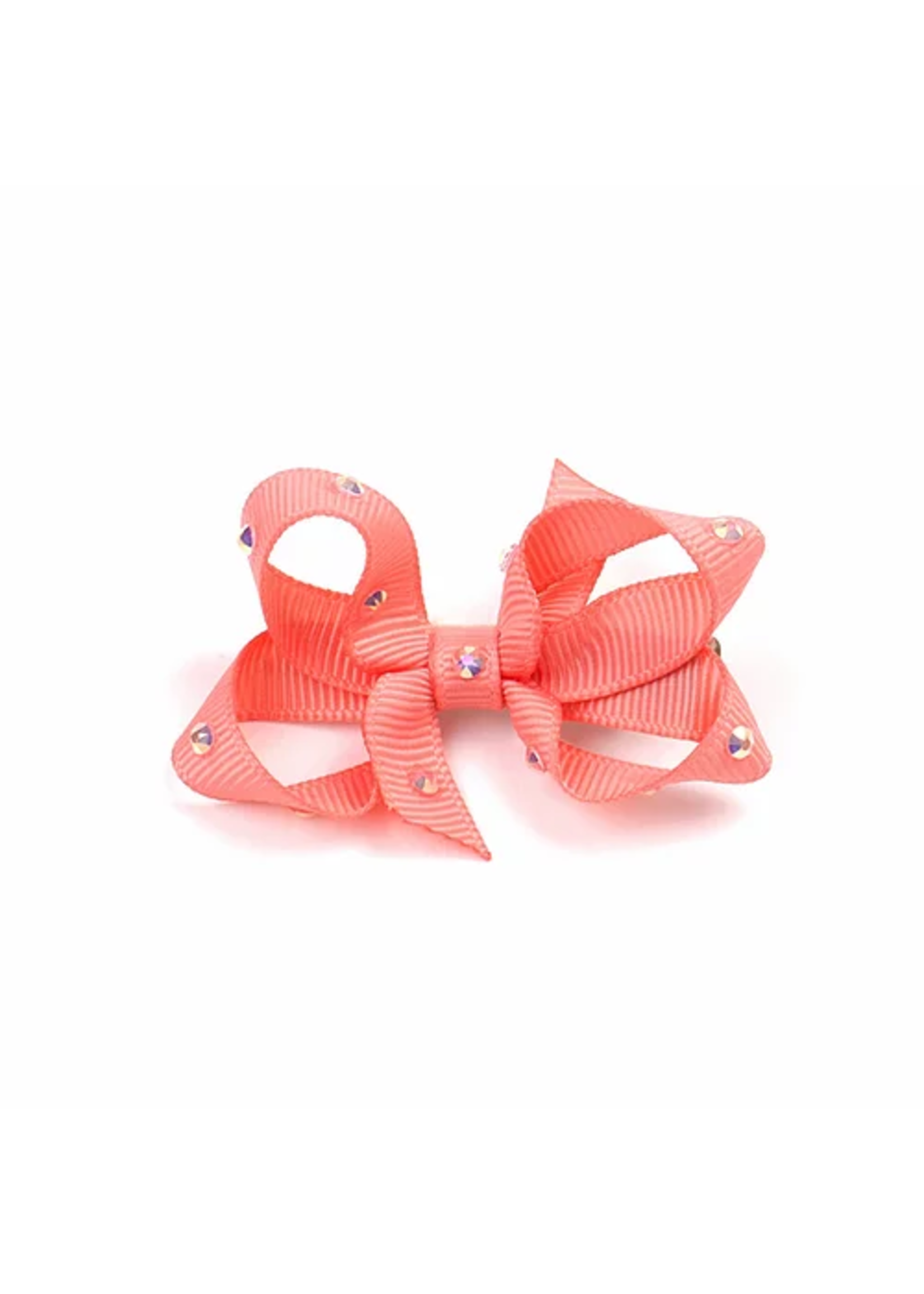 Olilia Small Crystal Bow (Light Coral)