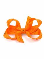 olilia Olilia Small Crystal Bow (Tangerine)