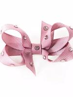 olilia Olilia Small Crystal Bow (Rosy Mauve)