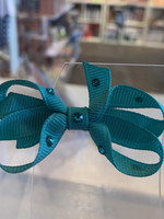 olilia Olilia Small Crystal Bow (Turquoise)