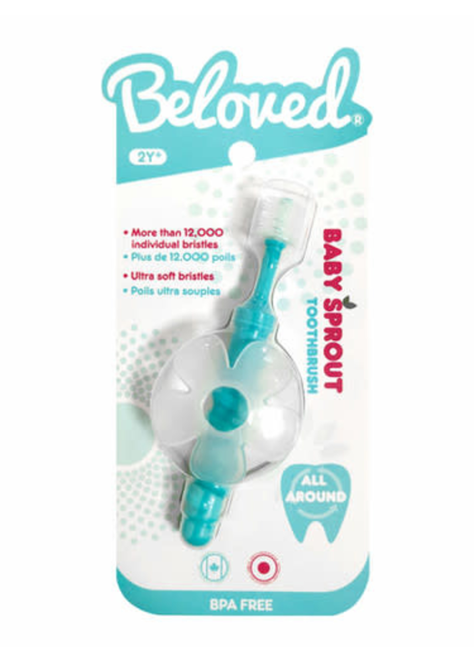 beloved 360 cylinder Sprout toothbrush 2y+