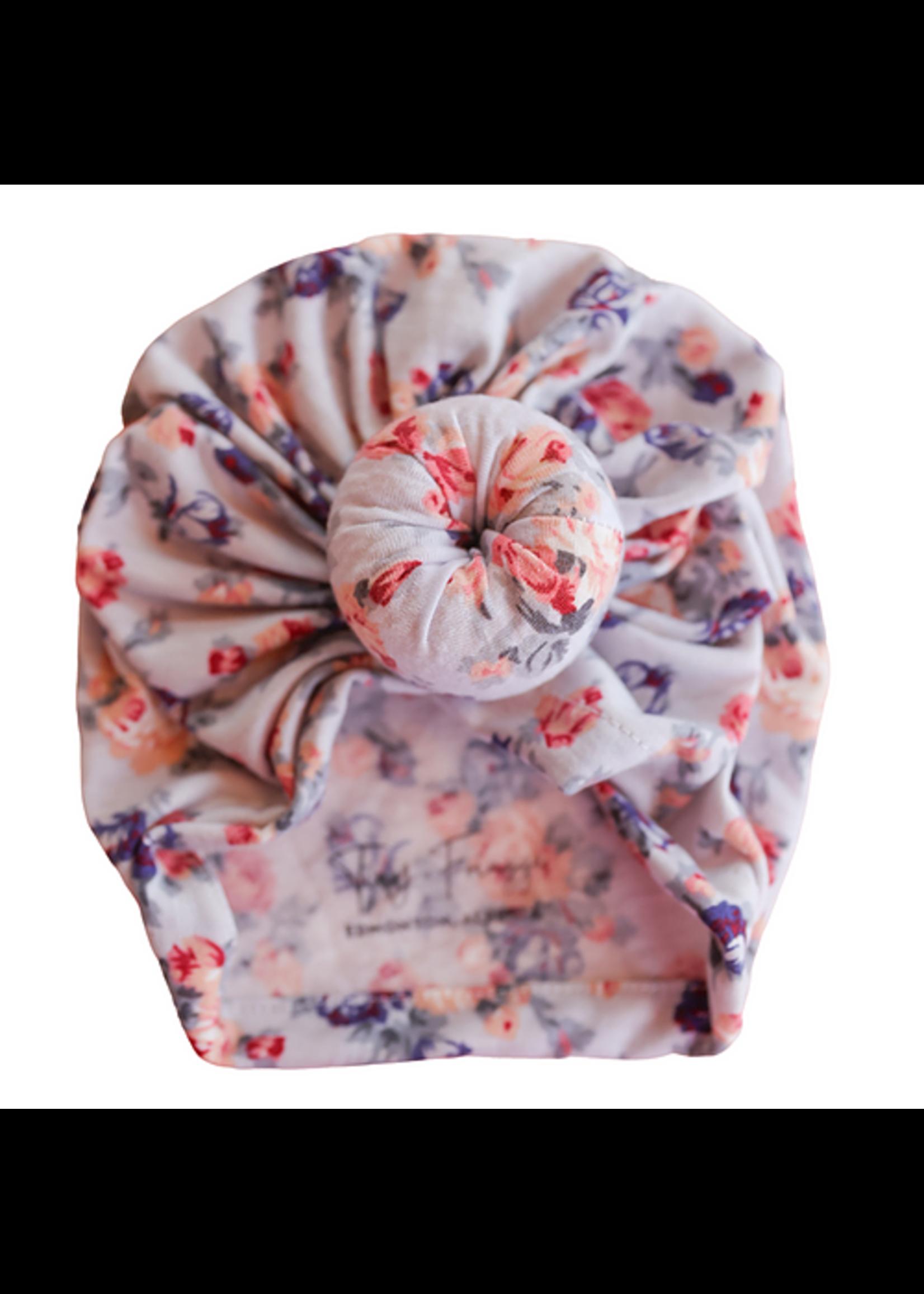 Baby Hood Baby Hood Floral Baby Turban Hat