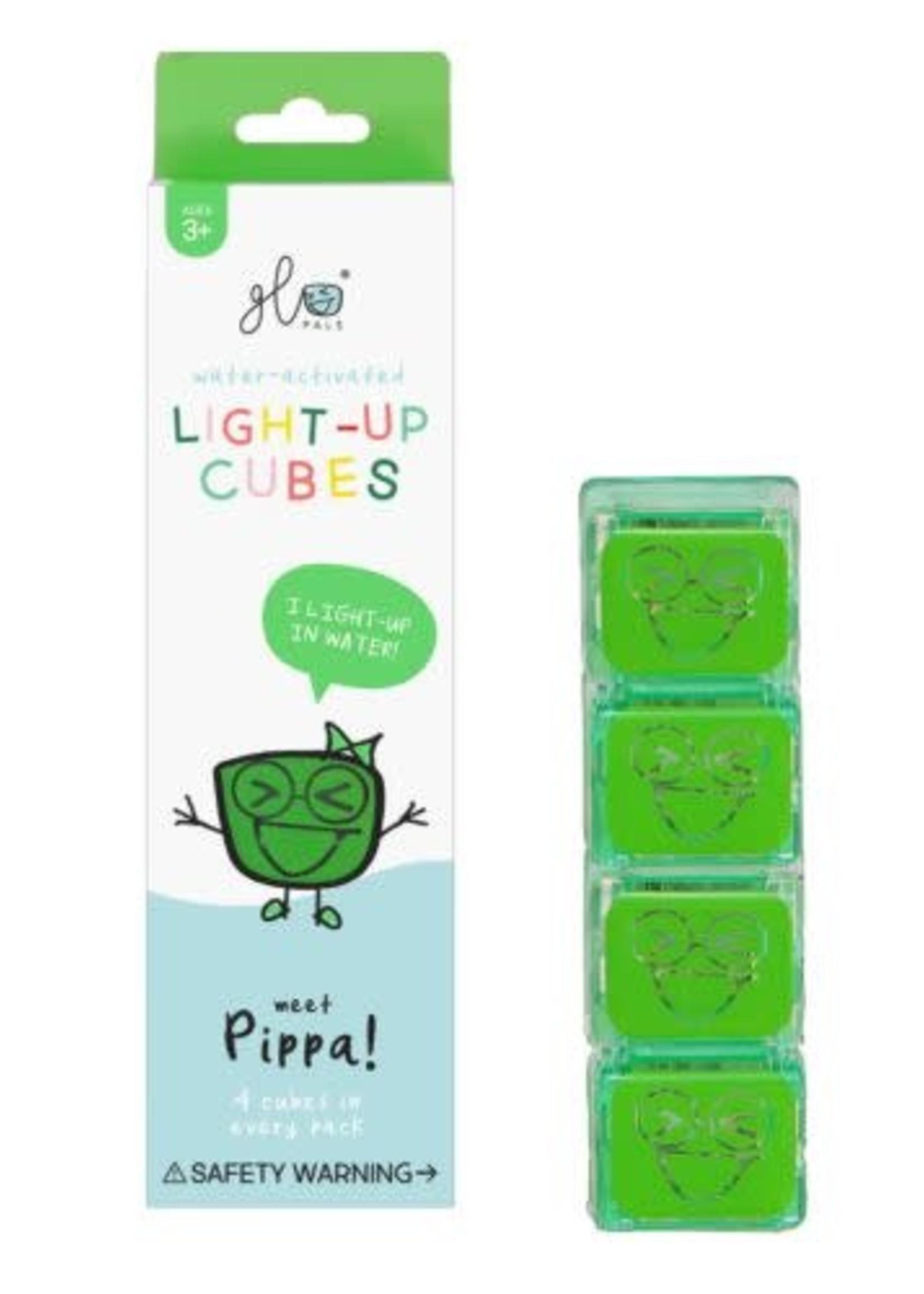 Glo Pals Glo Pals 4pk Light Up Cubes (Pippa Green)
