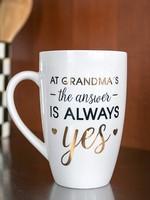 pearhead Pearhead At Grandma's The Answer Is Always Yes Mug