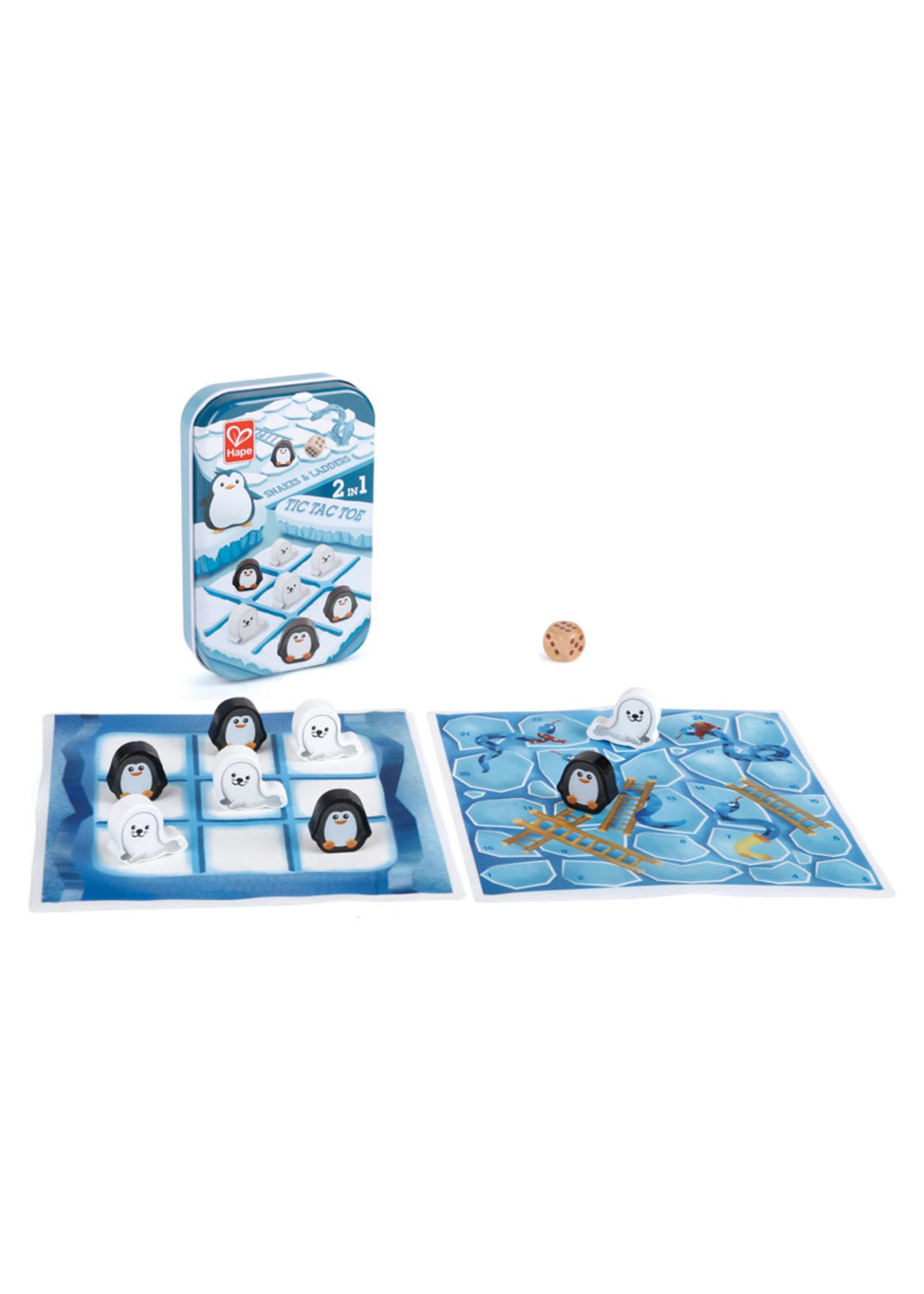 Hape Hape Pocket Game (2 in 1 Snakes & Ladders/Tic Tac Toe)