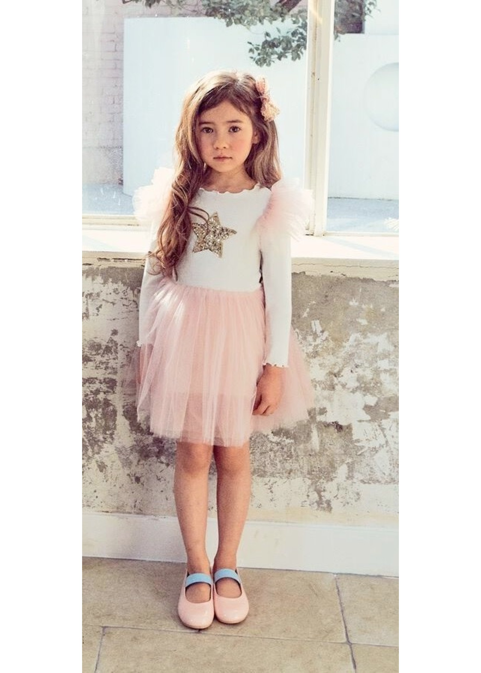 Petite Hailey PH Frill Tutu Dress Pink