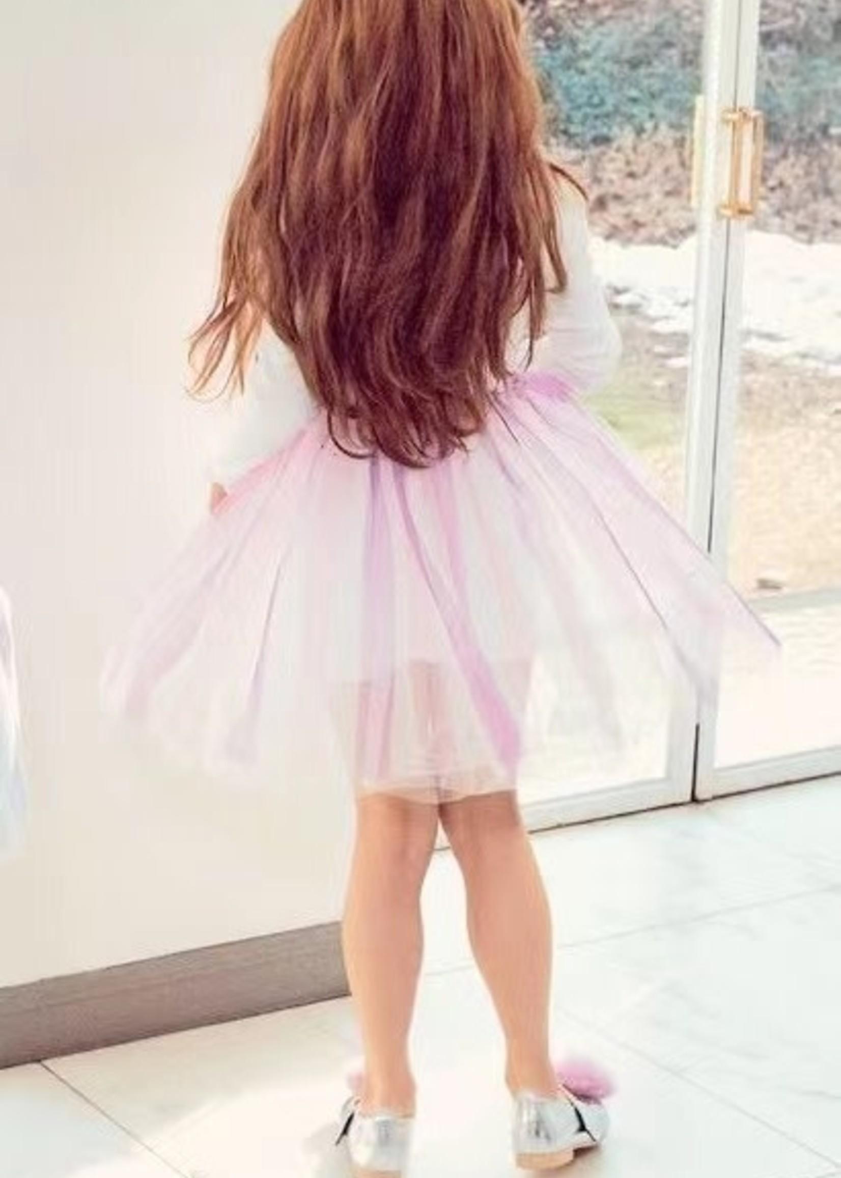 Petite Hailey PH Rainbow Glitter Tutu Dress